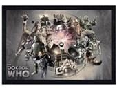 Black Wooden Framed Enemies Doctor Who