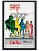 Black Wooden Framed Dr No James Bond