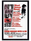 Black Wooden Framed From Russia With Love James Bond