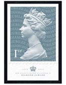 Black Wooden Framed The Queen Celebratory Stamp The Royal Mail