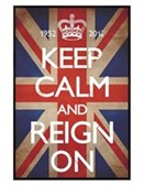 Gloss Black Framed Keep Calm & Reign On Keep Calm & Carry On