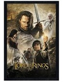 Black Wooden Framed Return of the King The Lord of the Rings