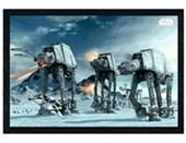 Black Wooden Framed Battle on the Planet Hoth Star Wars