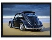 Black Wooden Framed Splitty VW Californian