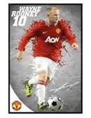 Gloss Black Framed Wayne Rooney Manchester United Football Club