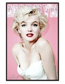 Gloss Black Framed Diamonds Are a Girl's Best Friend Marilyn Monroe