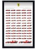 Black Wooden Framed Ferrari F1 Evolution Formula One