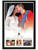 Black Wooden Framed The Royal Wedding Kate and Will