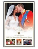 Gloss Black Framed The Royal Wedding William & Kate