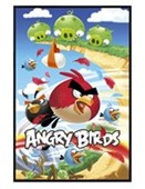 Gloss Black Framed On the Attack! Angry Birds