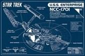 Star Trek Enterprise Blueprint U.S.S. Enterprise NCC-1701