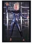 Black Wooden Framed Cyberwoman Jeff Kaine