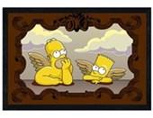 Black Wooden Framed Alternative Angels! Homer and Bart Simpson