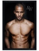 Black Wooden Framed Undressed to Thrill Ricky Whittle
