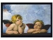 Black Wooden Framed Cherubs, Little Angels Cherubs by Raffaello Santi