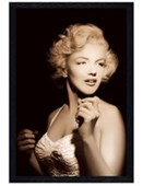 Black Wooden Framed In the Spotlight Marilyn Monroe
