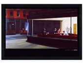 Black Wooden Framed Nighthawks Edward Hopper