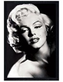 Black Wooden Framed Glamour Marilyn Monroe