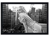 Black Wooden Framed Marilyn Monroe Manhattan Balcony