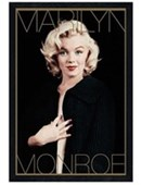 Black Wooden Framed Marilyn Monroe: Black and Gold Marilyn Monroe