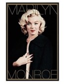 Gloss Black Framed Marilyn Monroe: Black and Gold Marilyn Monroe