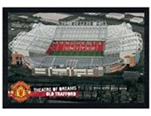 Black Wooden Framed Old Trafford - Theatre of Dreams Manchester United Football Club