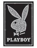 Gloss Black Framed Bunny in Bling Hugh Hefner's Playboy