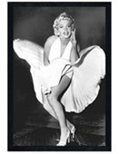 Black Wooden Framed The Seven Year Itch Marilyn Monroe