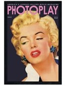 Black Wooden Framed Photoplay Cover with Marilyn Monroe Marilyn Monroe