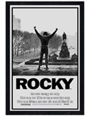 Black Wooden Framed Rocky Movie Score Rocky
