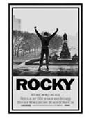 Gloss Black Framed Rocky Movie Score Rocky