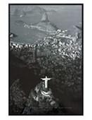 Gloss Black Framed Christ the Redeemer Rio de Janeiro