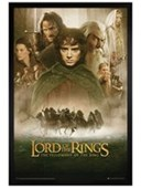 Black Wooden Framed The Fellowship of The Ring Movie Score Lord of the Rings - The Fellowship of the Ring