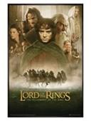 Gloss Black Framed The Fellowship of The Ring Movie Score Lord of the Rings - The Fellowship of the Ring