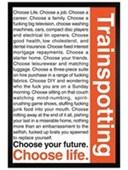 Black Wooden Framed Trainspotting, Choose your Life Trainspotting
