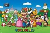 Super Mario Collage Mushroom Kingdom