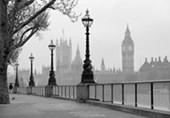 London Fog 8 Sheet Cityscape Wall Mural