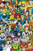 Retro Character Collage DC Comics