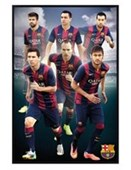 Gloss Black Framed Star Players Barcelona Football Club