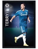 Black Wooden Framed John Terry Chelsea Football Club