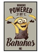 Gloss Black Framed Minions Powered By Bananas Despicable Me