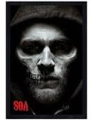 Black Wooden Framed Jax Skull Sons of Anarchy