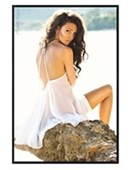 Gloss Black Framed White Dress Michelle Keegan