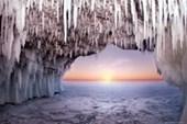 Ice Cave Frozen Landscape