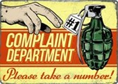 Complaint Department Please Take A Number
