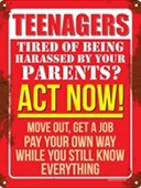 Teenagers Act Now! Pay Your Own Way