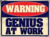 Genius At Work Warning