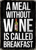 A Meal Without Wine Drinker's Lament