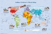 Educational Map Of The World Collins Children's World Map