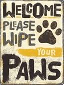 Please Wipe Your Paws Pet Etiquette